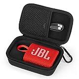 Yinke Étui Housse pour JBL GO 3 Mini Enceinte Bluetooth, Coque Rigide avec éponge Sac de Rangement (Black)