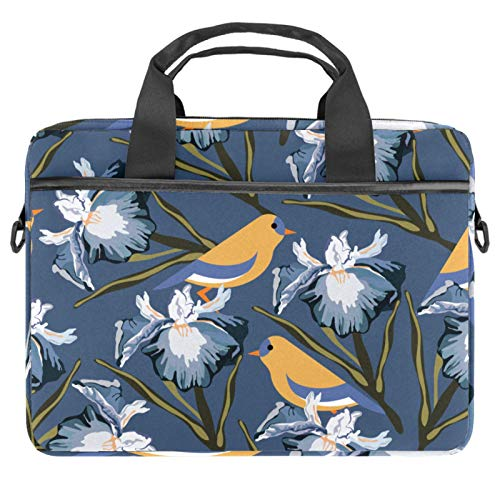 Computer Bag Suitable for MAC Computers Men and Women Handbags: 13.4 inch-14.5 inch Lightweight 15 inch Laptop Bag Business MessengerBird Flower