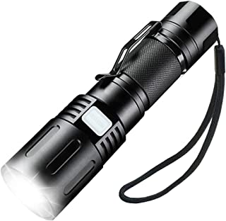 Zoomable Flashlight,SupFire Rechargeable Led Flashlight with Power Bank Output High Lumens Super Bright Tactical Flashligh...