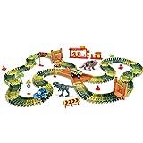 142 Piezas De Pista De Carreras De Coches, Pista De Juguete De Dinosaurios, Juego De Pistas De Coches Del Mundo, Diy Railcar Toy, Pistas Flexibles, Juego De Juguetes Para Niños, Bloques De Construcci
