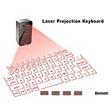 ZUEN Mini Bluetooth Laser-Tastatur drahtlose Virtuelle Projection Keyboard Tragbare Geeignet für iPhone und Android Smart-Phone Ipad Tablet...