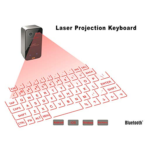 ZUEN Mini Bluetooth Laser-Tastatur drahtlose Virtuelle Projection Keyboard Tragbare Geeignet für iPhone und Android Smart-Phone Ipad Tablet PC Notebook