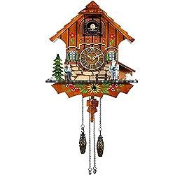 Kintrot Cuckoo Clock Black Forest Antique Clock Quartz Pendulum Wall Clock Home Decor