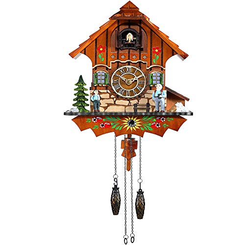 Kintrot Cuckoo Clock Black Forest Antique Clock Quartz Pendulum Wall Clock Home Decor