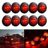 TUINCYN 3/4 pulgada Redondo LED Indicador LED Bombillas 12V Luces de cola del maletero del coche Luz de freno Marcadores laterales Luz de marcado de separación (paquete de 10)