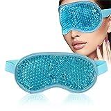 Augenmaske Kühlend, Augen Gel Maske, Kühlend Augenmaske, Kühlpads Gel Augenmaske für Die Augen, Migräne, Geschwollene Augen, Trockene Augen und Kopfweh - Blau