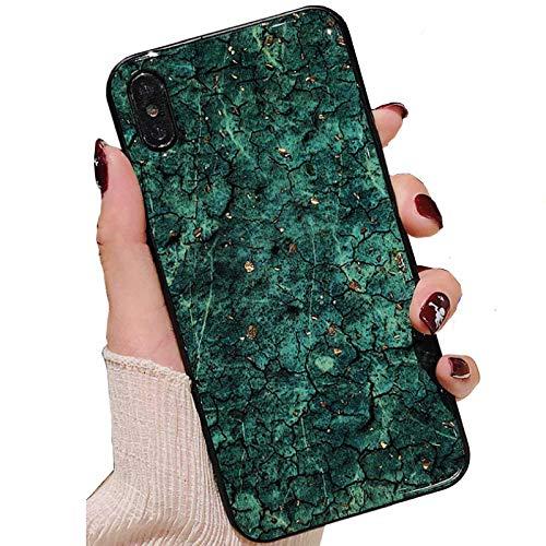 Funda para Galaxy 2016 J3 2016/Amp Prime/J3V, lámina interior de piedra de mármol de roca, cubierta delgada, luz artificial antiarañazos, carcasa delgada para Samsung J320, color verde