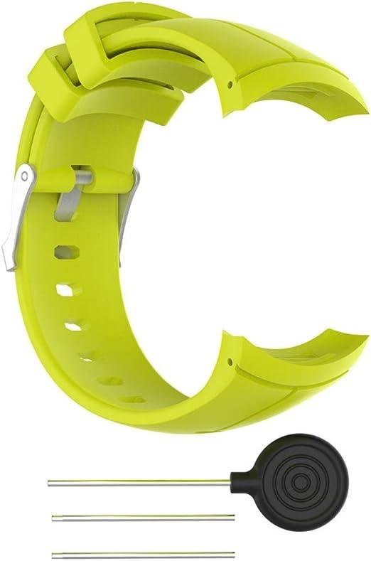 Colorful Für Suunto Spartan Ultra Silikon Sport Ersatzarmband Ersatz Uhrenarmband Replacement Wechselarmband Watch Band Für Suunto Spartan Ultra Gelb Sport Freizeit