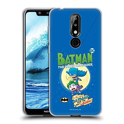 Head Case Designs sous Licence Officielle Super Friends DC Comics Batman Jeunes Enfants Couverture Bandes Dessinées Coque en Gel Doux Compatible avec Nokia 5.1 Plus / X5