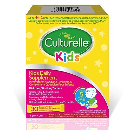 Culturelle Kids Probiotisches Nahrungsergänzungsmittel für Kinder 30 Päckchen - 5 Milliarden Bakterienkulturen - Lactobacillus Rhamnosus GG - Glutenfrei - 30 Tage Versorgung