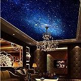 3D Murales Papel Pintado Pared Calcomanías Decoraciones Estrella Nebulosa Cielo Nocturno Techo Dormitorio De Viruela Fondo Galaxy Tema Art º Los Niños Dormitorios (W)300X(H)210Cm