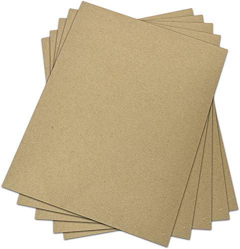 Chipboard - Cardboard Medium Weight Chipboard Sheets - 25 Per Pack. (8.5 x 11) by Superfine Printing Inc.