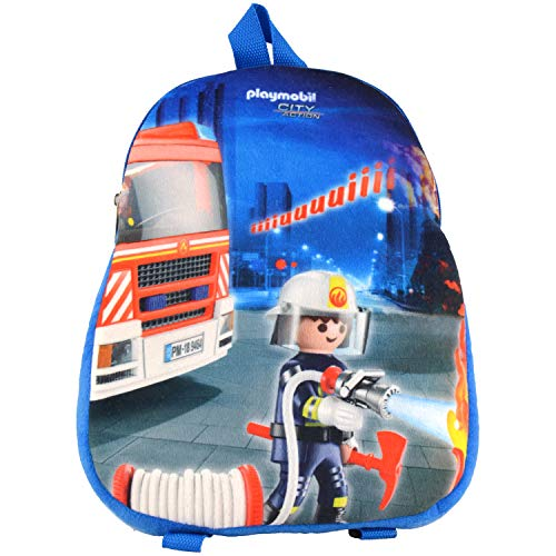 Playmobil City Action – Rucksack Feuerwehr Tasche Kinder mit Feuerwehr Motiv