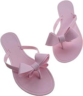 bling bow flip flops