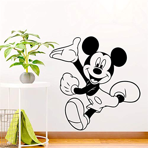 Greneric Mickey Black 58 x 60 cm Wall Sticker for Children Room Home Decor Cartoon Wall Sticker Vinyl Mural Art DIY Wallpaper Accessories