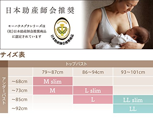ママと赤ちゃんのために考え抜かれた授乳用ブラジャー「モーハウスブラ」(L,チャコール)