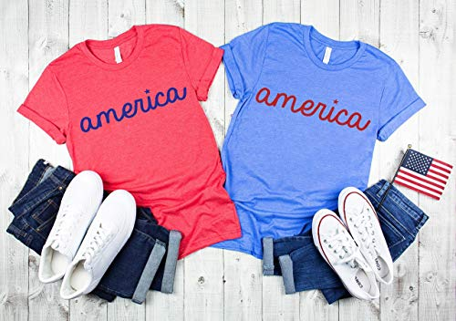 Matching fourth of July shirts America shirt cute 4th of July top Woman's Patriotic outfit