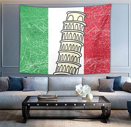 BöhmischeWandbehangHippieHippieWandteppiche,ItalienFlaggePisaTurm3D-DruckIndischeWohnkulturBettwäscheWandteppich,abstrakteWandteppich,BettwäscheWandteppich,Wandteppich