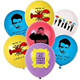 """Friends TV Show Balloons 50pcs, 12""""Happy Birthday Latex Balloon for Birthday Friends Themed Party Supplies and Decorations,Blue Red Yellow White Purple Balloon"""