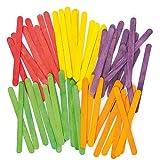 Baker Ross Palitos de Helado para Manualidades en 5 Colores Variados Perfectos para Crear Modelos y Decorar otras Creaciones Infantiles (Pack de 200)