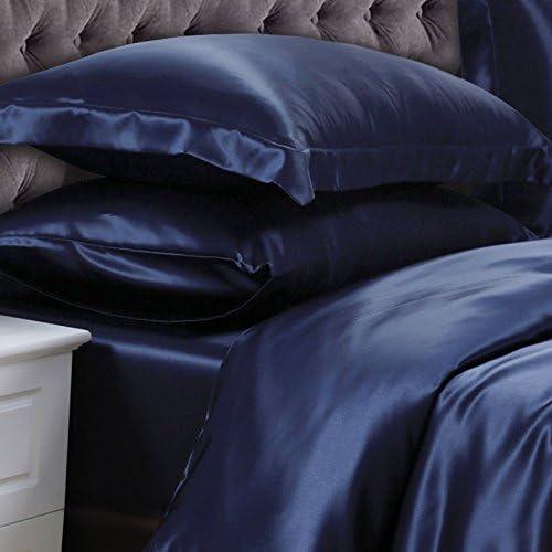Meena Shree Textile 100% 売り出し 大人気 Pure Silk Fi Set Satin Sheet 4pcs