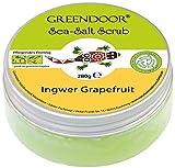 4,5 Sterne Greendoor Körperpeeling Meersalz Ingwer Grapefruit 280g, natürliches Salz-Peeling ohne Mikroplastik, Duschpeeling ohne Konservierungsmittel, Body Scrub,...