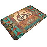 Msanlixian Welcome Doormat Southwest Kokopelli Native American Non-Slip Doormats Indoor/Outdoor/Front Door Mats Floor Mat Entrance Rug 19.5 X 31.5 Inch for Bathroom Bedroom Kitchen