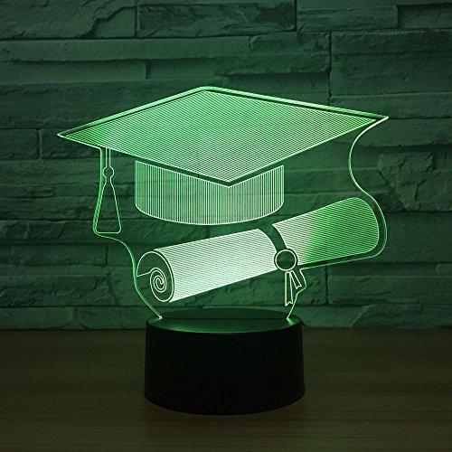 Dokter hoed 3D Nacht Licht, Decoratieve LED Nachtlampje Tafel Lamp voor Kids Kamer Kerstmis Verjaardagscadeaus voor Children's Slaapkamer Woonkamer Decoratie