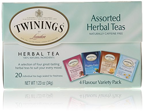 Twinings of London Assorted Herbal Tea Bags 20 Count