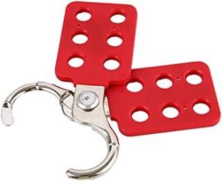 Perfk Lockout Tagout Hasp for Padlocks, PE Coated Aluminum Hasp, 1 inch Jaw Clearance