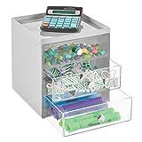 mDesign Schreibtisch Organizer mit 3 Schubladen – Ablagefächer für Stifte, Büroklammern,...