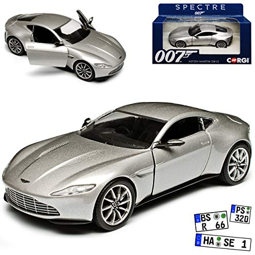 Corgi Aston Martin DB10 Spectre Coupe Silber James Bond 007 Ab 2014 1/36 Vanguards Modell Auto