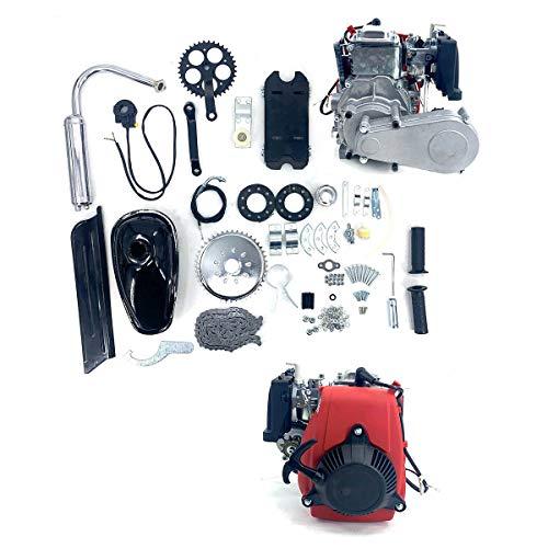 EWANYO 49CC Bicycle Engine Kit, Bike Bicycle Motorized 4 Stroke Cycle Motor Engine Kit Set, Petrol Gas Engine Kit, Super Fuel-efficient for 26' Bikes