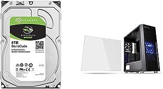 "Seagate BarraCuda 3.5"" 8TB 内蔵ハードディスク HDD 2年保証 6Gb/s 256MB 5400rpm 正規代理店品 ST8000DM004 & Thermaltake Versa H26 Black /w casefan ミドルタワー型PCケース [ブラックモデル] CS7070 CA-1J5-00M1WN-01"