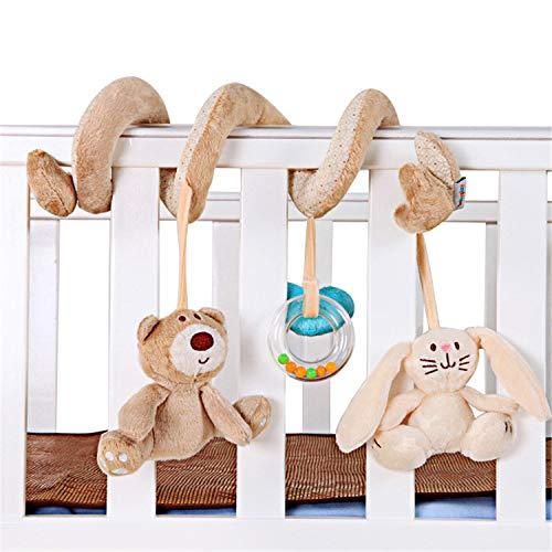 Zeagro Juguete para cochecito de bebé en espiral, juguete para colgar en el asiento del coche o en la cama, cochecitos de juguete para bebés recién nacidos, niñas y niños pequeños