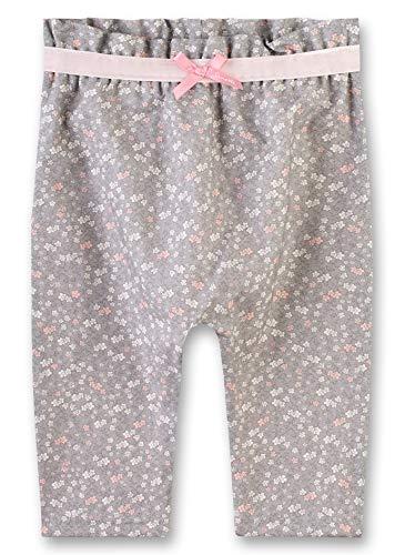 Sanetta Baby-Mädchen Pants Lined Hose, Grau (Rauch 1607), 62 (Herstellergröße: 062)