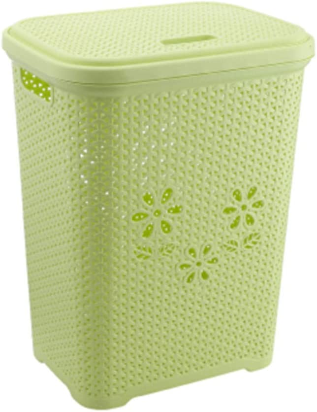 QVIVI Portable Laundry Basket with Lid Hamper Plastic Ranking integrated Max 81% OFF 1st place