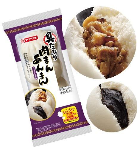 ヤマザキ 具たっぷり 肉まん + あんまんごまこしあん 中華まん 4個入り×3個セット 山崎製パン横浜工場。