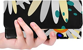 Unique Custom Butterfly Decor Beetle Insect Style Decorative Women Trifold Wallet Long Purse Credit Card Holder Case Handbag