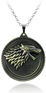 Badge Wolf Of The Stark Pendants Necklaces For Men Game of Thrones Sweater Chain Fashion Men Jewelry