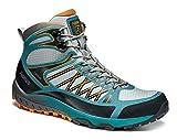 Asolo Women's Grid Mid GV Hiking Boot Sky Grey 9 & Knit Cap Bundle