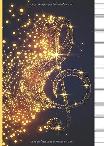 Cuaderno De Musica Pentagrama Para Piano: 6 sistemas de 2 pe