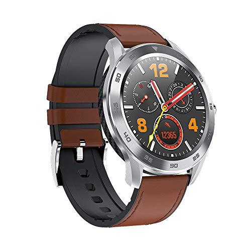 LRHD Smart Watch Men Bluetooth Llamada IP68 Reloj Impermeable Detección de sueño Podómetro Stopwatch Smart Pulsera Música Sport Bands para Android iOS Fitness Tracker SmartWatch, Negro