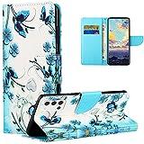 Vepbk per Samsung Galaxy A22 4G Cover, Custodia Flip Case Portafoglio in Pelle Cover con Disegni Colorate Modello Porta Carte Magnetica Silicone a Libro Cuoio Custodia per Galaxy A22 4G,Design 5