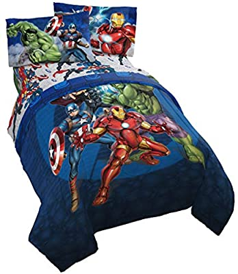 Jay Franco Marvel Avengers Blue Circle Bed Set, Twin by Jay Franco & Sons