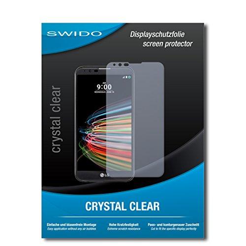 SWIDO Bildschirmschutz für LG X mach [4 Stück] Kristall-Klar, Hoher Festigkeitgrad, Schutz vor Öl, Staub & Kratzer/Schutzfolie, Bildschirmschutzfolie, Panzerglas Folie