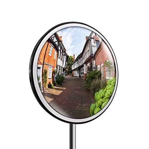 topwill Tr/áfico Espejo Espejo Convexo de Seguridad /überwachungsspiegel policarbonato Convexo Espejo para tr/áfico Seguridad 1 30cm