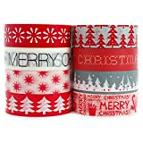 Crafty Rabbit Christmas Washi Tape - Set of 8 Rolls - 262 Feet...