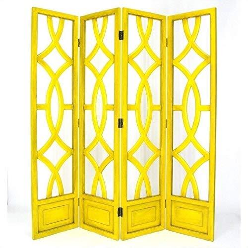 Wayborn Charleston Room Divider in Yellow