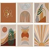 Boho Prints Wall Poster Mid Century Modern Art Earth Tones